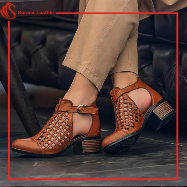 کفش تمام چرم زنانه
