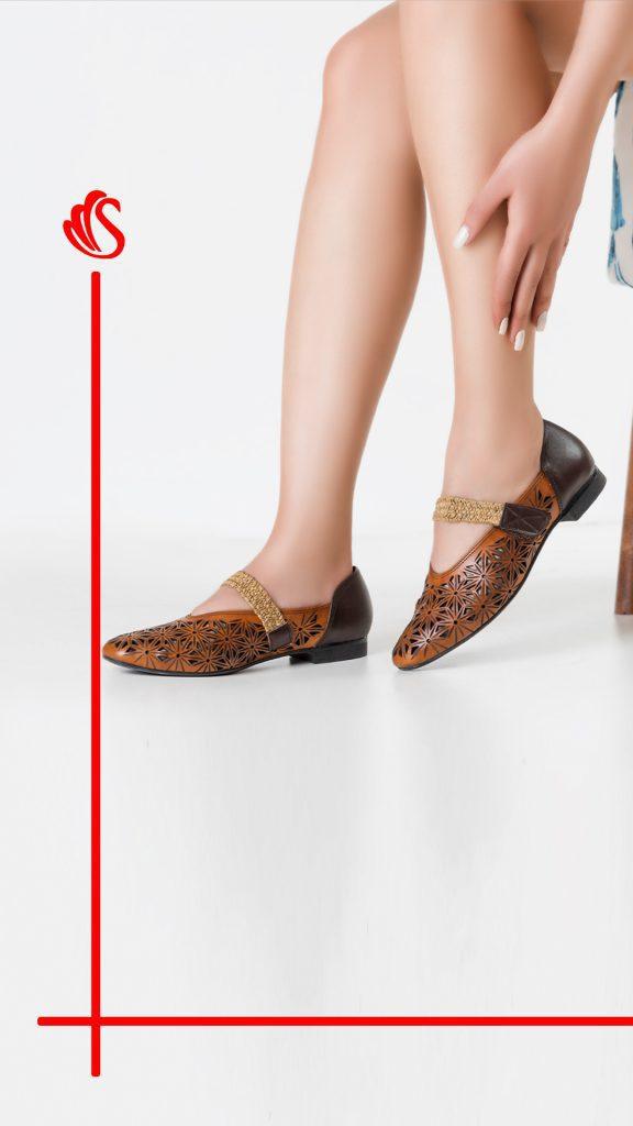 کفش چرم کد 865
