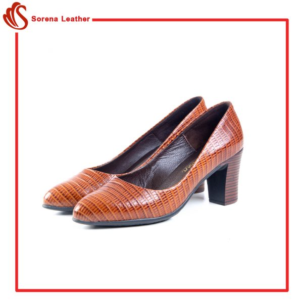 کفش چرم زنانه کد 813