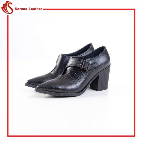 کفش چرم زنانه کد 851