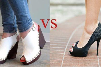 کفش پاشنه بلند یا لژدار